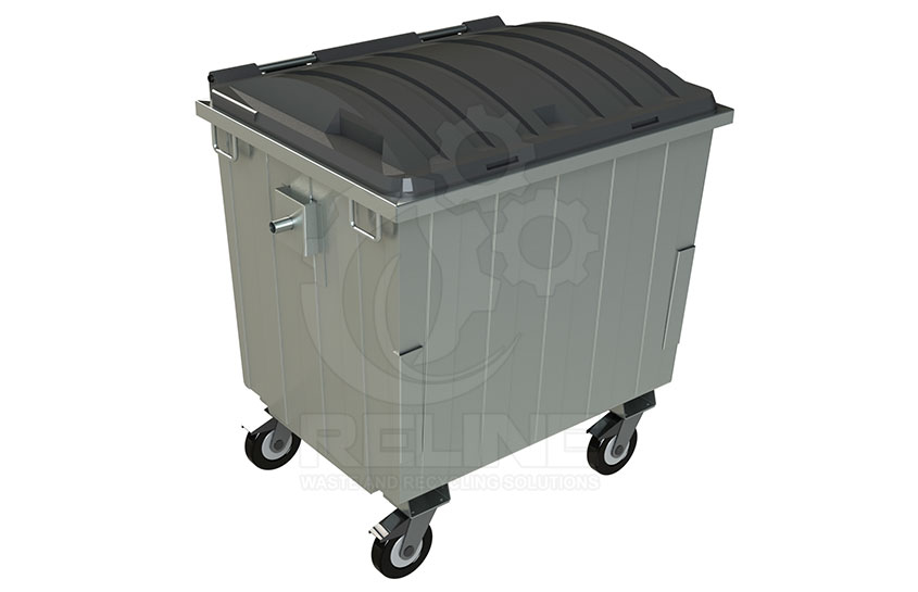 Waste Container 1100l with Plastic Lid